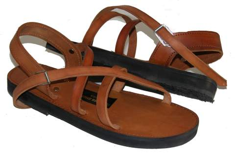 Continous strap sandal. A workhorse of a sandal made with robust leather a padded innersole and a moulded sole as standard. $125