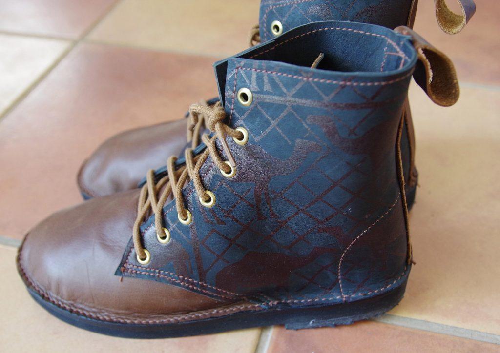 Camel print boots $180