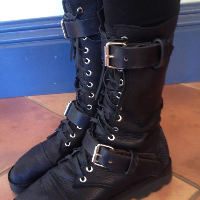 'Steampunk' boots $235