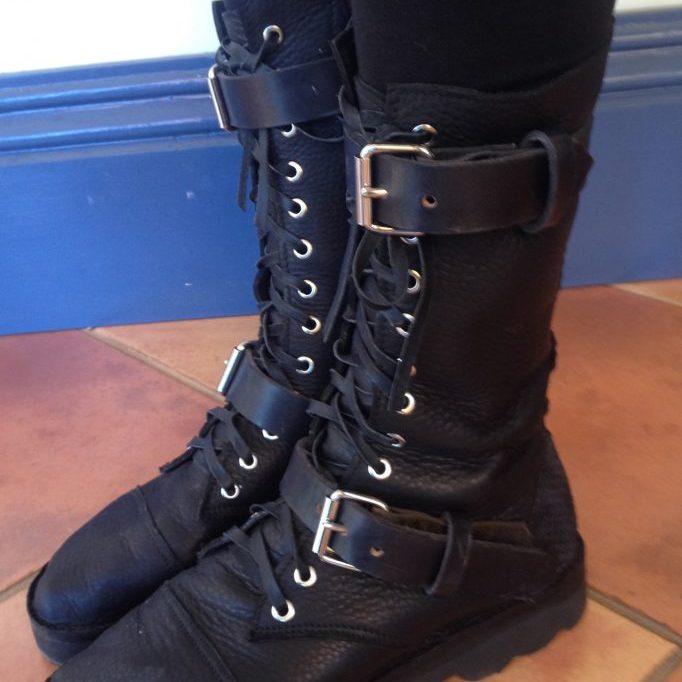 'Steampunk' boots $235